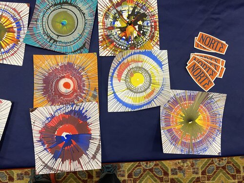 wheel spoke art from STEAM Makerfest 2020